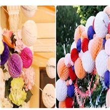 1pcs/lot Wedding Table Party Honeycomb Balls Paper Lanterns For Garland Decorations