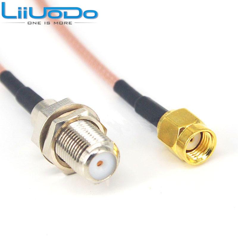 2 шт. SMA - F адаптер RP SMA папа к F гнездовой Соединительный пигтейльный кабель RG316 10 см