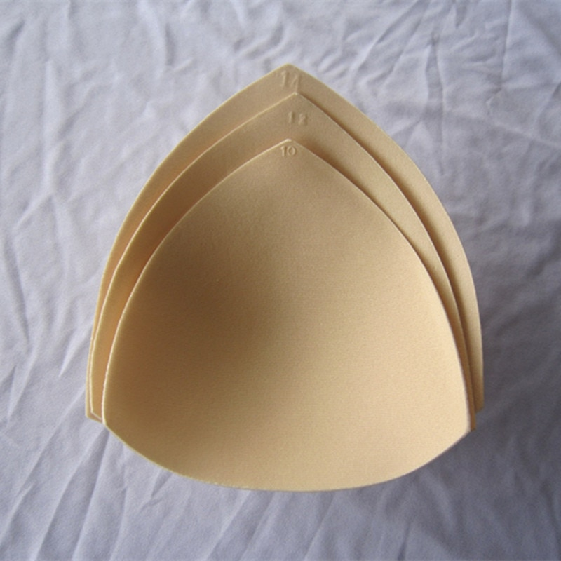 2 uds. 1 par de almohadillas de sujetador de esponja pecho Sujetador push up removible relleno insertos tazas para traje de baño Bikini acolchado