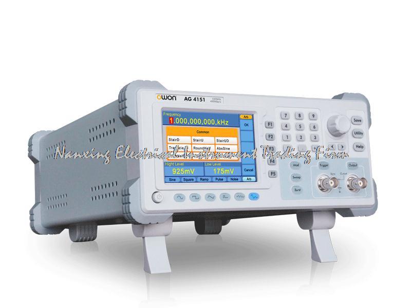 OWON AG4101 generador de forma de onda arbitraria de un solo canal 4 pulgadas de alta resolución TFT LCD 100MHZ ancho de banda y 400MSa/S Frecuencia de muestreo
