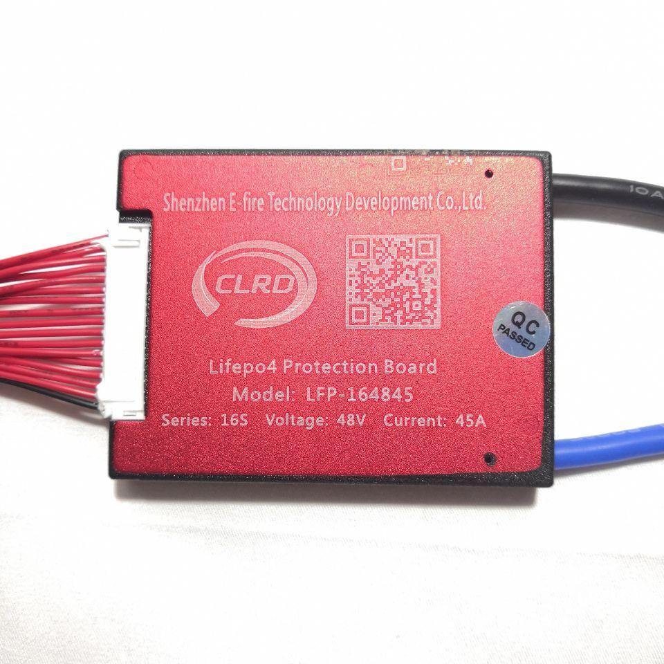 16S 48V 20A 30A 40A 50A 60A BMS Sistema de Gestión de batería PCM PCB para Lifepo4 Paquete de batería con equilibrio