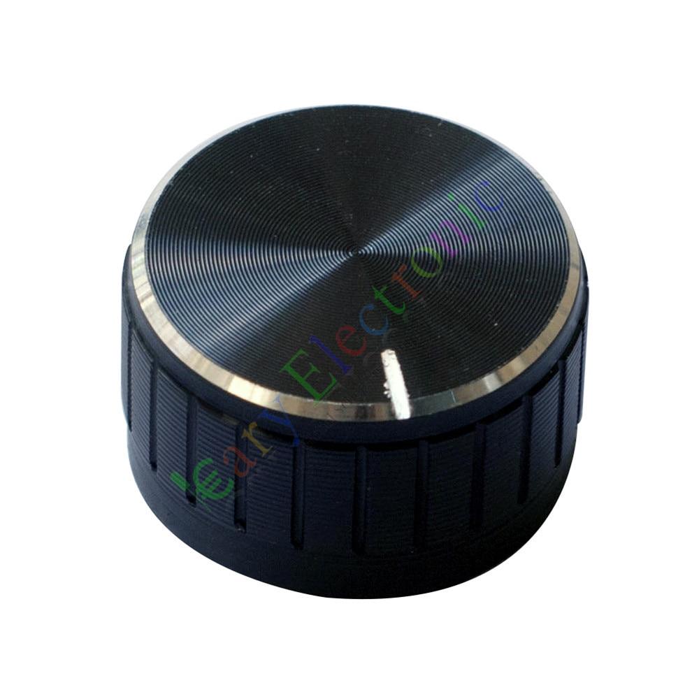 Venta al por mayor y al por menor 50pc 30mm Pedal superior zócalo negro perilla guitarra amplificador de tubo JAZZ bajos de audio DIY piezas envío gratis