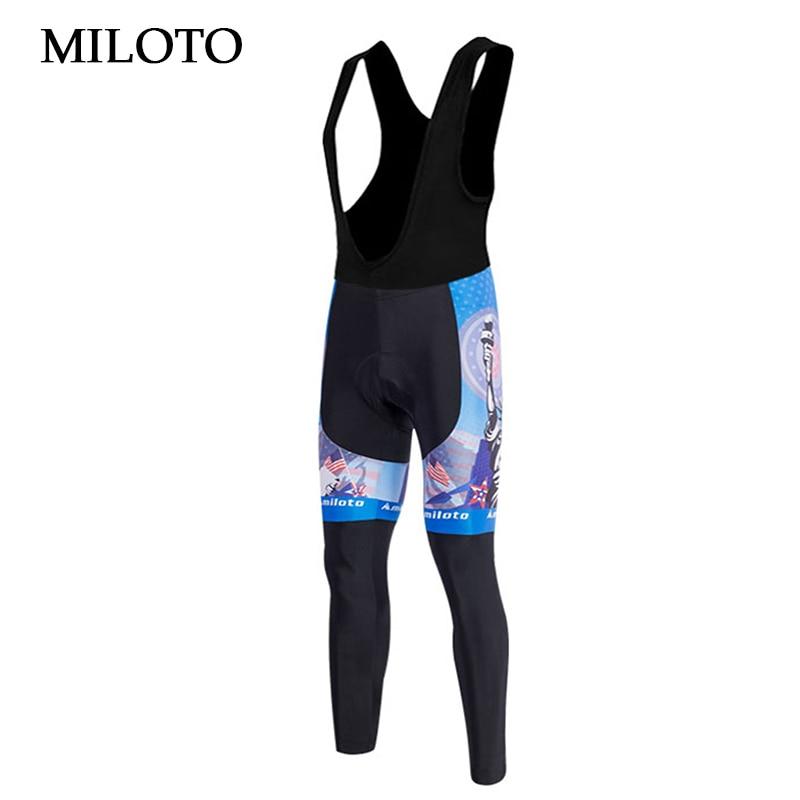 USA/UK pantalones MILOTO ciclismo pantalones para hombres pantalones largos pantalones respirables ciclismo bicicleta larga (Bib) acolchado mtb Pantalones