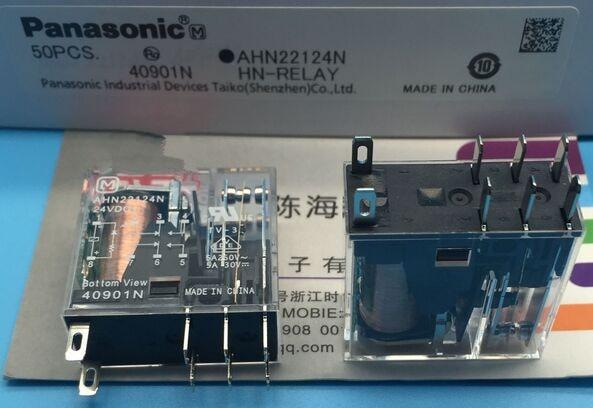 AHN22124N 24VDC 5A 250VAC DIP8 NAIS MATSUSHITA Relé 2 DE C con LED, nuevo y original
