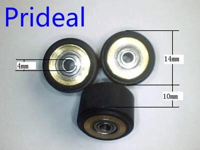 4x10x14mm cortador de vinil núcleo de cobre pitada rolo de corte plotter roda rolo de borracha da imprensa roda rolo pitada mimaki