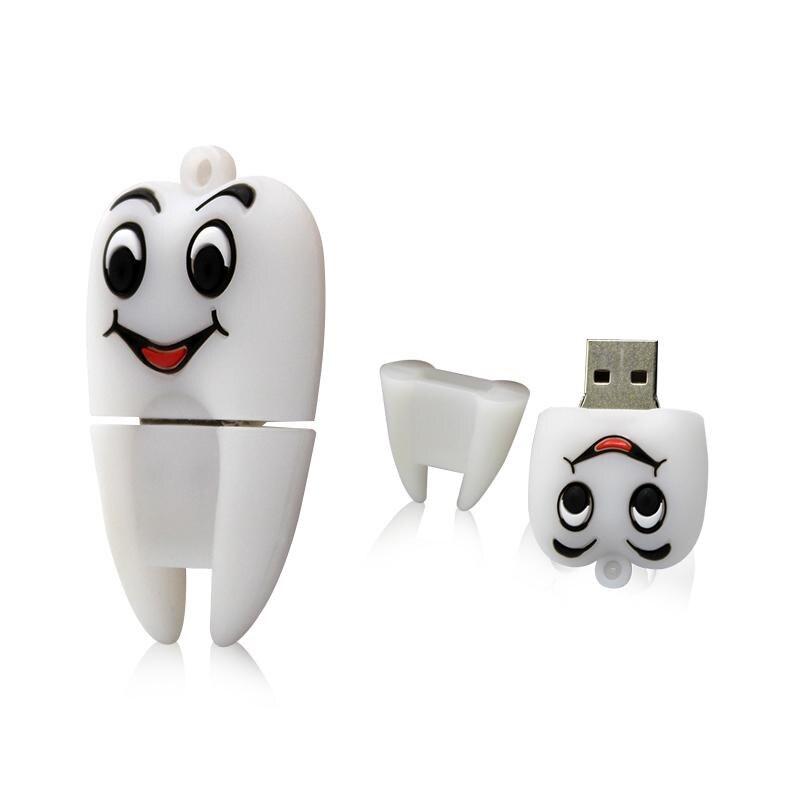 Memoria USB Mini con dibujos animados, pen drive de 128GB, 64GB, 32GB,...