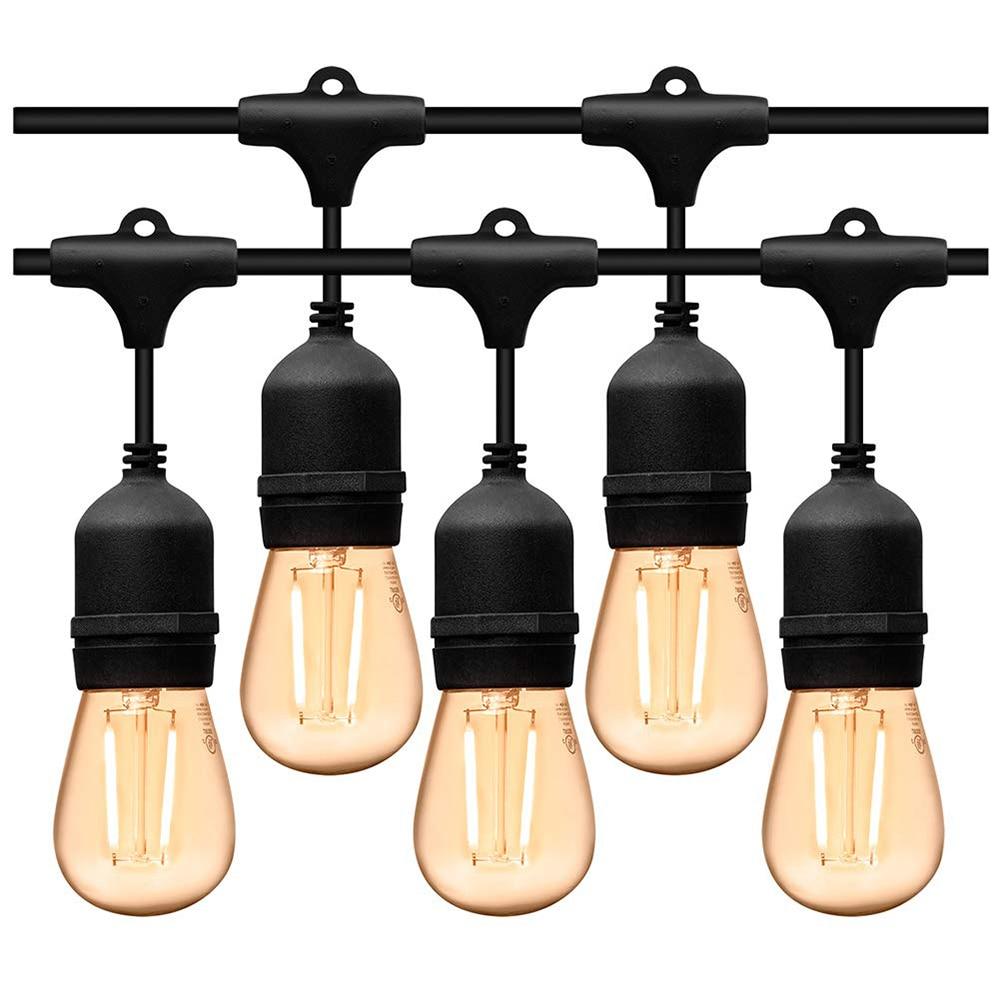 إكليل إضاءة LED خارجي ، مقاوم للماء ، 5 م ، 10 م ، E27 ، للحفلات ، الشارع ، الحديقة ، الفناء ، الفناء ، الحفلة