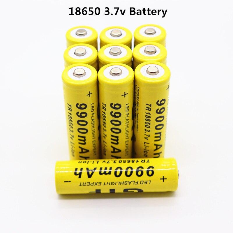 10 шт./лот 2018 Новый 18650 3,7 v аккумулятор 9900mAh аккумуляторная батарея фонарик батарея + Бесплатная доставка