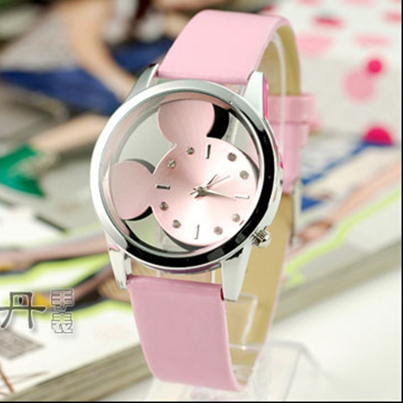 2021 New Classic fashion Women Watches casual transparent hollow dial leather quartz wristwatches wo