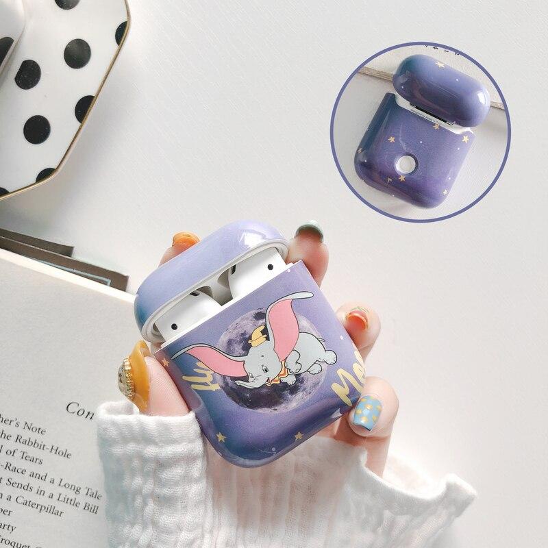 Для Airpods чехол s милый мультяшный чехол для наушников Dumbo для Apple Airpods 2 Коробка для зарядки наушников аксессуары сумка модный жесткий чехол