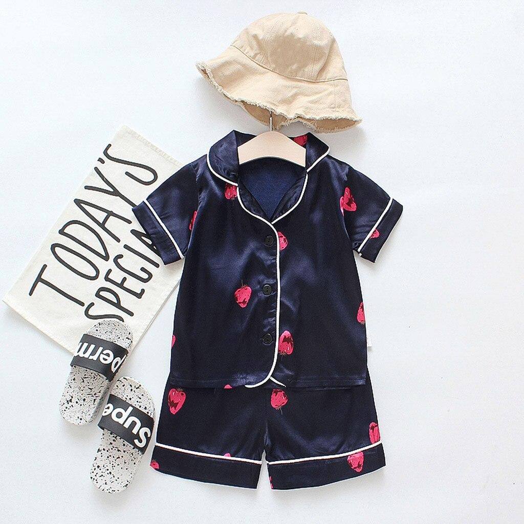 Детские пижамные комплекты для маленьких мальчиков и девочек Мультяшные пижамы