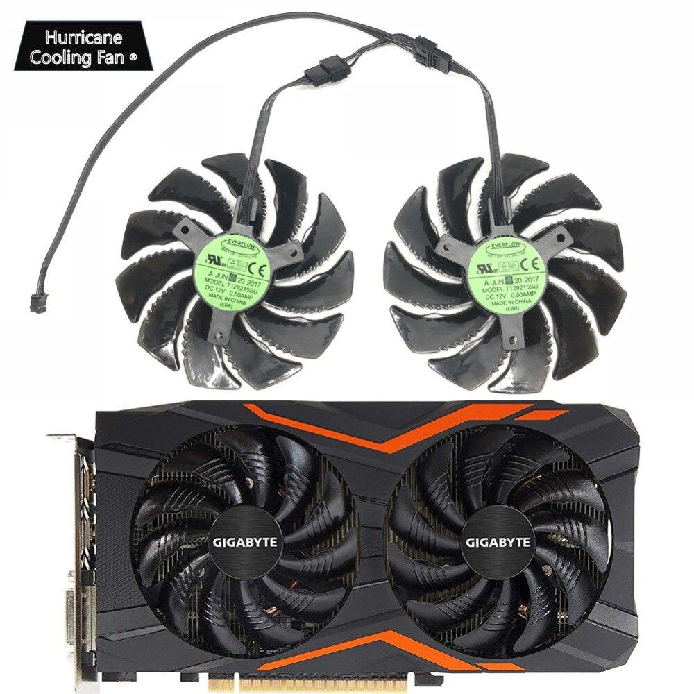 Nuevo 88MM T129215SU PLD09210S12HH 4Pin ventilador de refrigeración para Gigabyte GTX 1050, 1060, 1070, 960 RX 470, 480, 570, 580 de tarjetas gráficas refrigerador