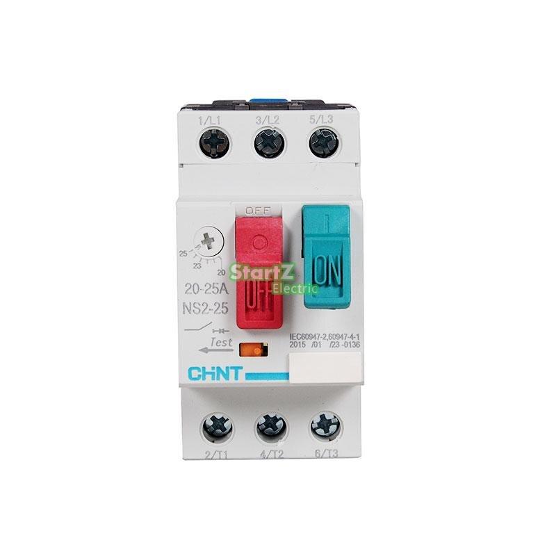 CHNT NS2-25 2.5A (1.6-2.5A) protetor Do Motor motor de arranque Do Motor interruptor do motor do Disjuntor do Circuito GV2 ME