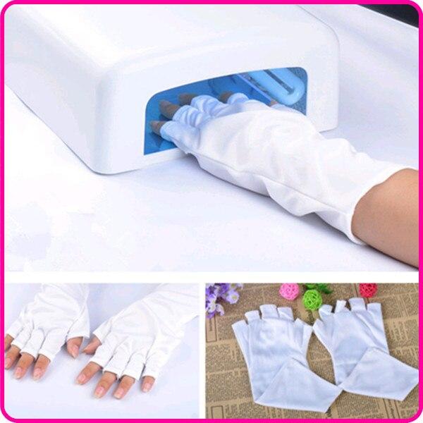 ZKO 1 пара профессиональная художественная перчатка для ногтей, УФ-лампа, защита от излучения, перчатки из бамбукового волокна для дизайна ногтей