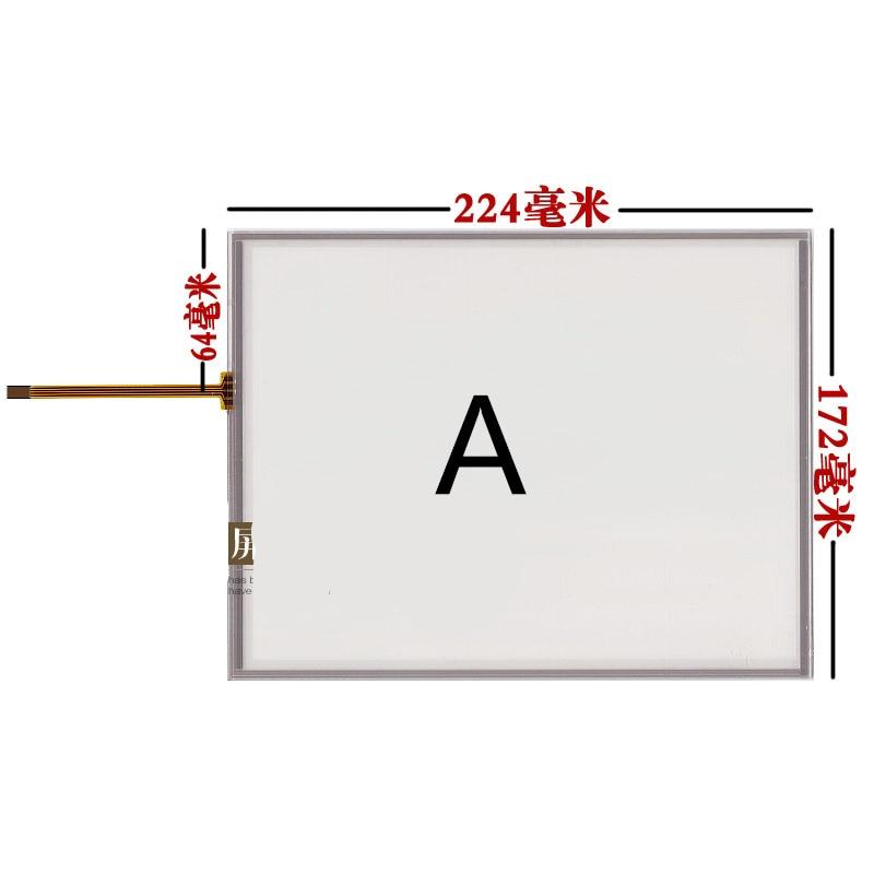 10,4 pulgadas de pantalla táctil de reemplazo AMT9509 AMT 9509 pantalla táctil LQ104V1DG52 51 G104SN03 V.1 V.0 letra pantalla táctil