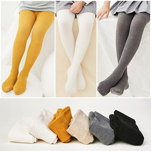 Autumn 2018 Girls Warm Tights Candy Colors Children Dancing Cotton Soft Stocking Solid Pure color girl pantyhose 2-13Y