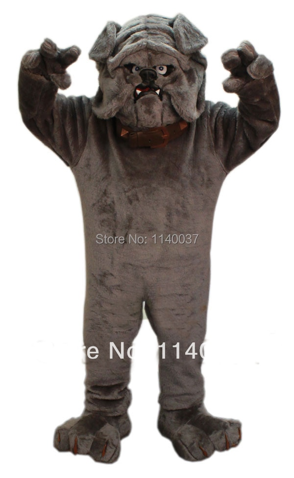Mascota Bulldog gris Mascota disfraz adulto tamaño Bulldog Mascotte Mascota traje fiesta carnaval vacaciones vestido de lujo