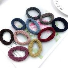 50PCS 5.0cm Jacquard Waves Knitted Hair Ties Hair Bands Seamless elastic hair scruchies for women girls Wholesale