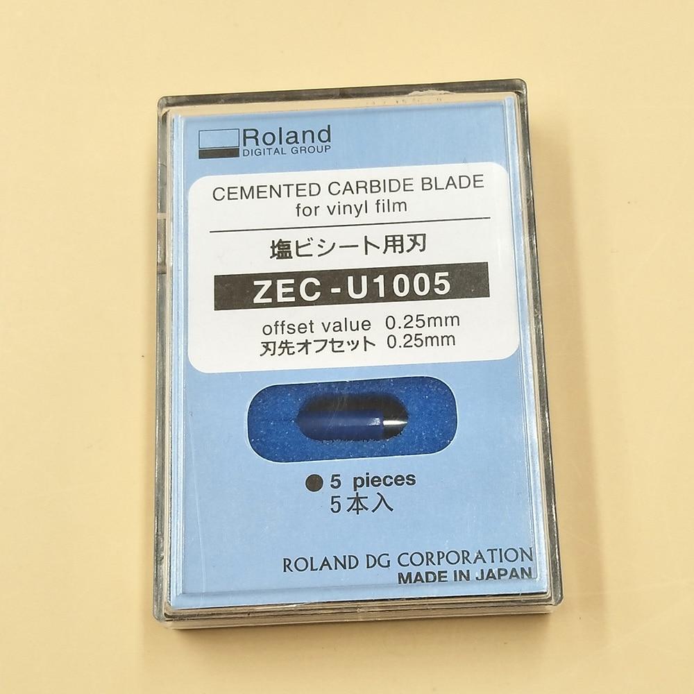 Режущий плоттер ROLAND, 5 шт., 45 градусов, лезвия, ZEC-U1005 для принтеров Roland XC-540/SP-300/VS-540/VS-640