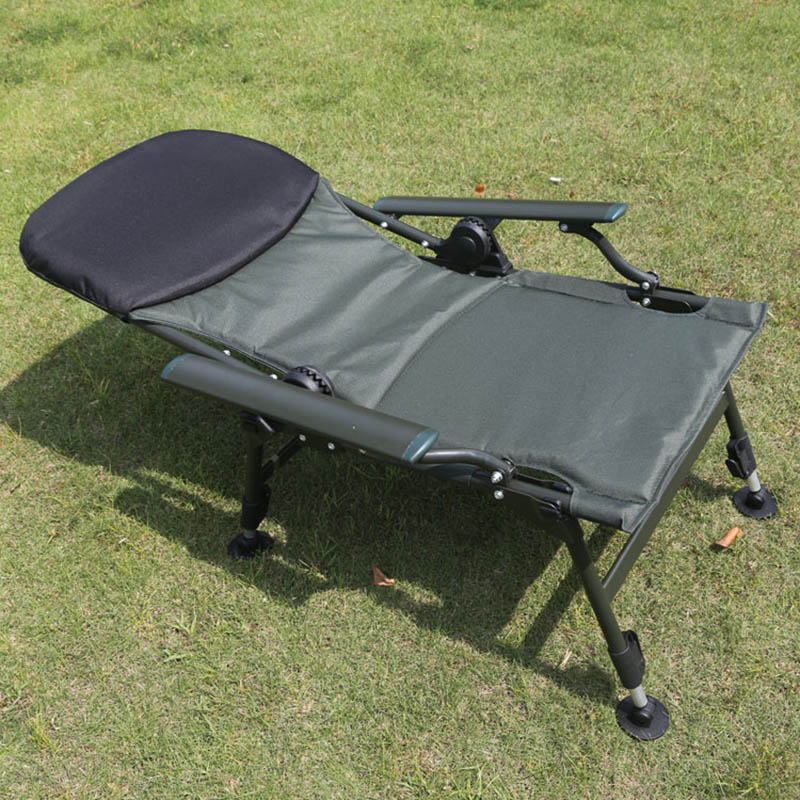 Brand Fishing chair bear 170kg  portable lying European fishing chair set  Aluminum Alloy chair bed for fishing outdoor chairs enlarge