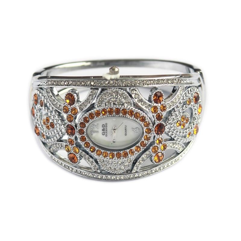 WA161 Luxury Brand Women Watches Silver Bracelet Watches Ladies Quartz Wristwatches Crystal Jewelry Gift relogio feminino Hour enlarge