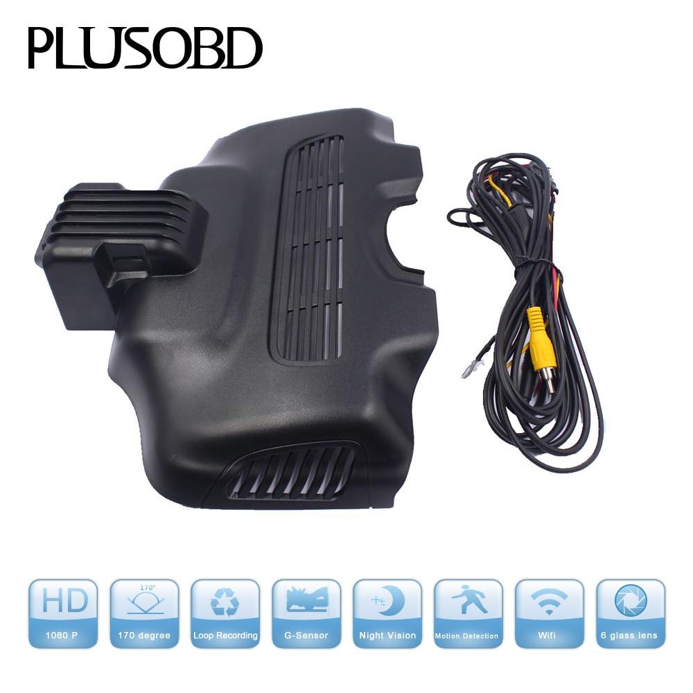 PLUSOBD Car Cam DVR grabadora registro visión nocturna g-sensor Grabación en bucle 1080P WDR NT96655 especial para Mercedes Benz E 212G
