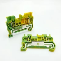 10pcs st 1 5pe type din rail 4 contacts wiring ground earth universal spring quick connector modular terminal block