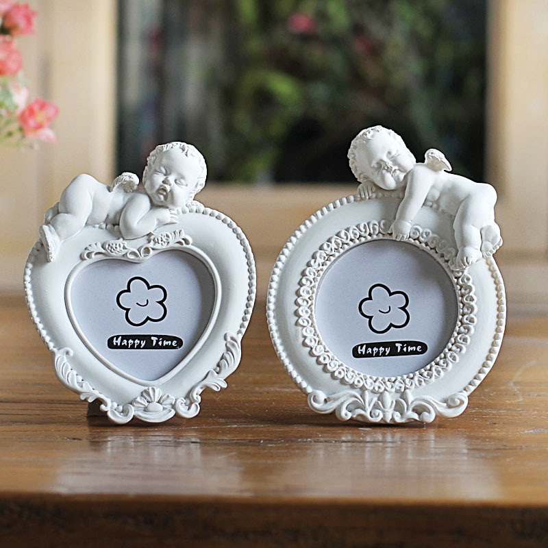 Белая рамка для мини-картины для милого ребенка, фоторамка в форме сердца для домашнего декора, Оригинальная Фоторамка для свадьбы