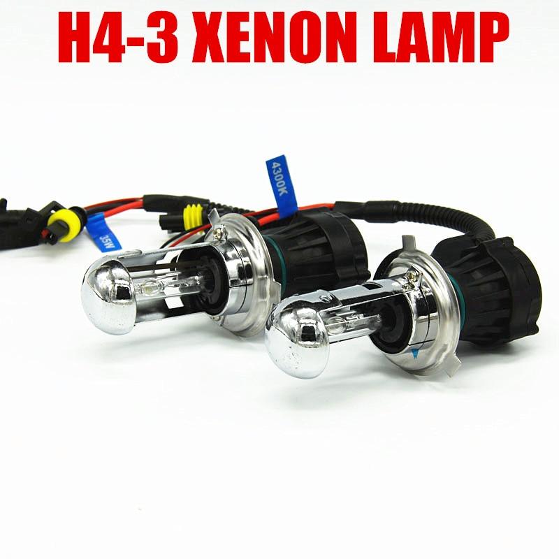 12 v H4-3 Hi/Lo Feixe Lâmpada hid luz 9004 9007 H13 iluminação do carro Xenon h4 lâmpada 6000 k automotivo para BiXenon hid kit frete grátis