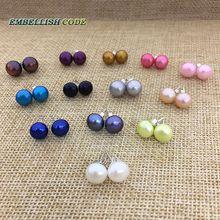 Boucles doreilles chaudes perles de culture deau douce naturelles AAA blanc noir gris rose violet bleu jaune rouge orange marron
