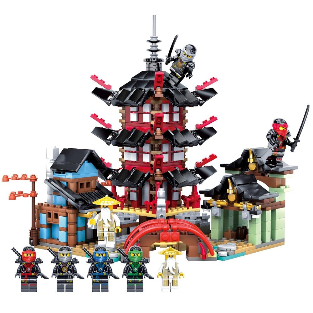 2017 Ninja Temple 737+pcs DIY Building Block Sets educational Toys for Children Compatible ninjagoes Educational gift