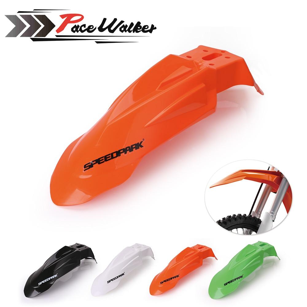 Бесплатная доставка, Универсальные пластиковые передние блендеры Supermoto Evo черного цвета для Honda, Yamaha, Suzuki, KTM, DRZ, KX, YZ, KTM, WR, XR