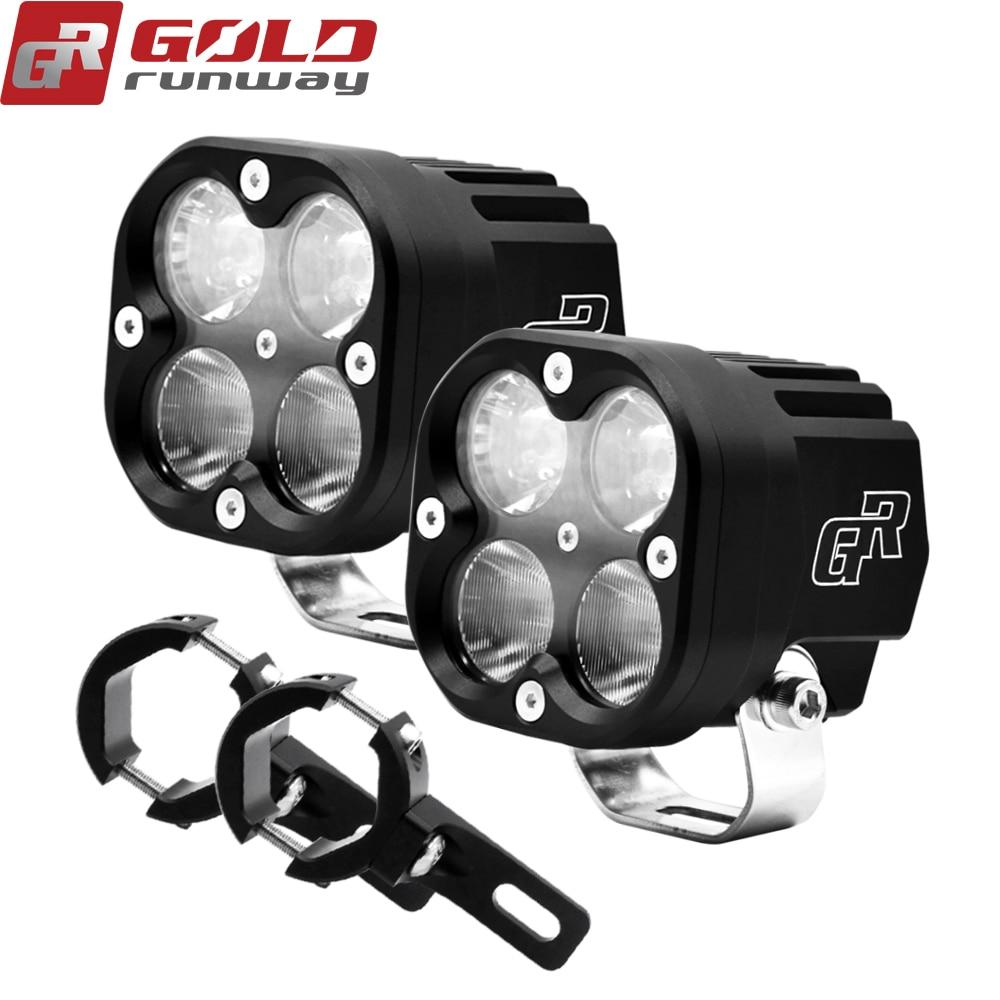 Luces antiniebla de motocicleta GOLDRUNWAY X4, Luz antiniebla LED auxiliar de montaje, lámpara de conducción de 40W para BMW R1200GS ADV F800GS F700GS F650GS
