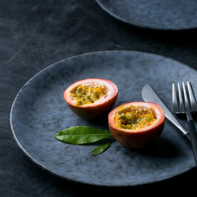الإبداعية السيراميك الغربية الغذاء لوحة مكتب المعجنات كعكة الصحن أدوات المائدة المنزلية شريحة لحم السباغيتي الخضار Dish طبق الهدايا