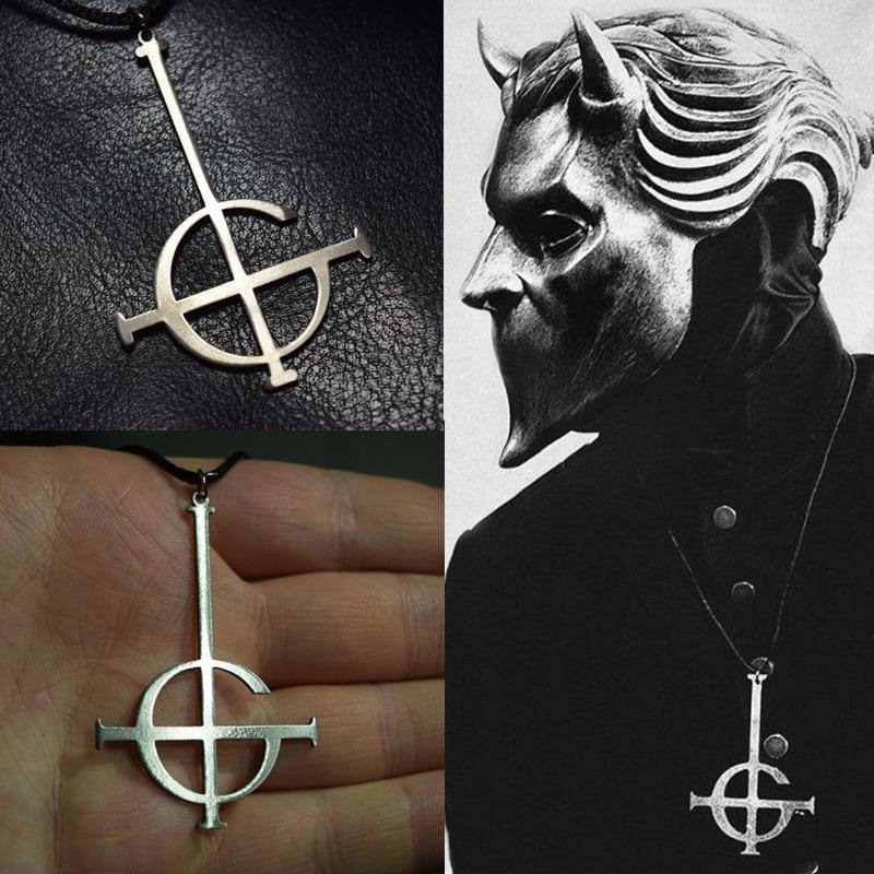 Ghost bc sin nombre Ghoul COLLAR COLGANTE banda fantasma Grucifix Papa emérito parche joyería