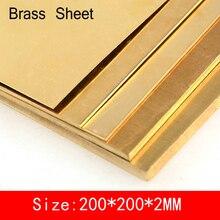 Plaque de découpe Laser personnalisée   Feuille de laiton de 200*200*2mm de CuZn40 2.036 CW509N C28000 C3712 H62, carte de découpe Laser de taille personnalisée