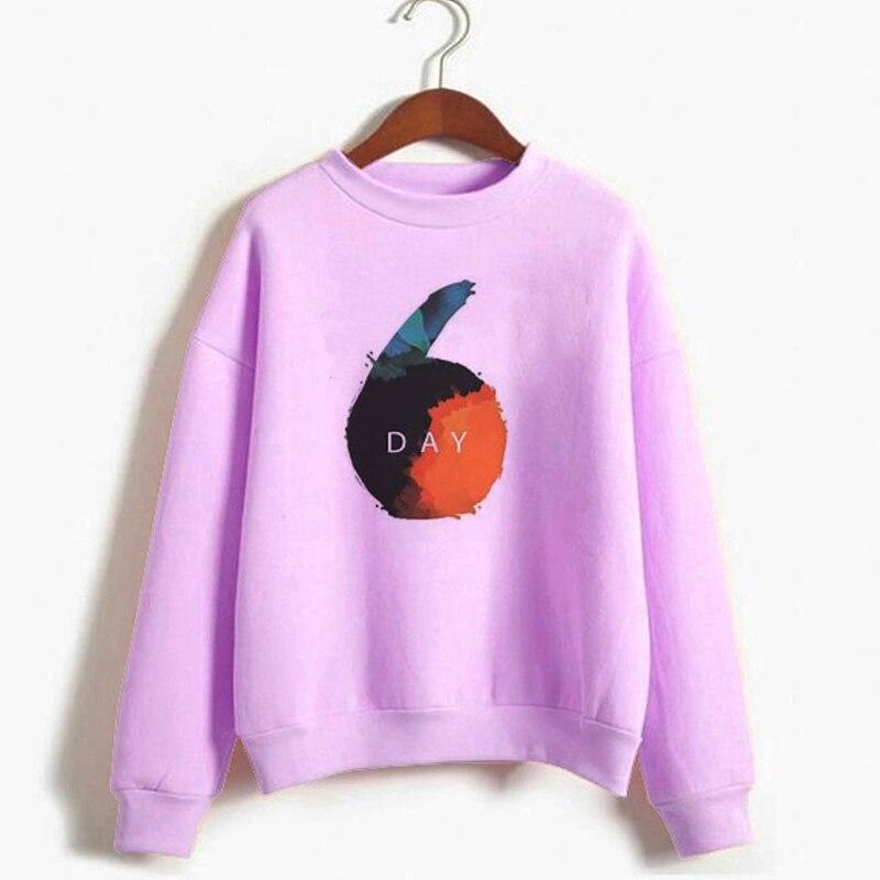 Kpop day6 moletom moletom moletom de manga longa das mulheres do pescoço da tripulação outono inverno quente velo hoodies unisex roupas streetwear