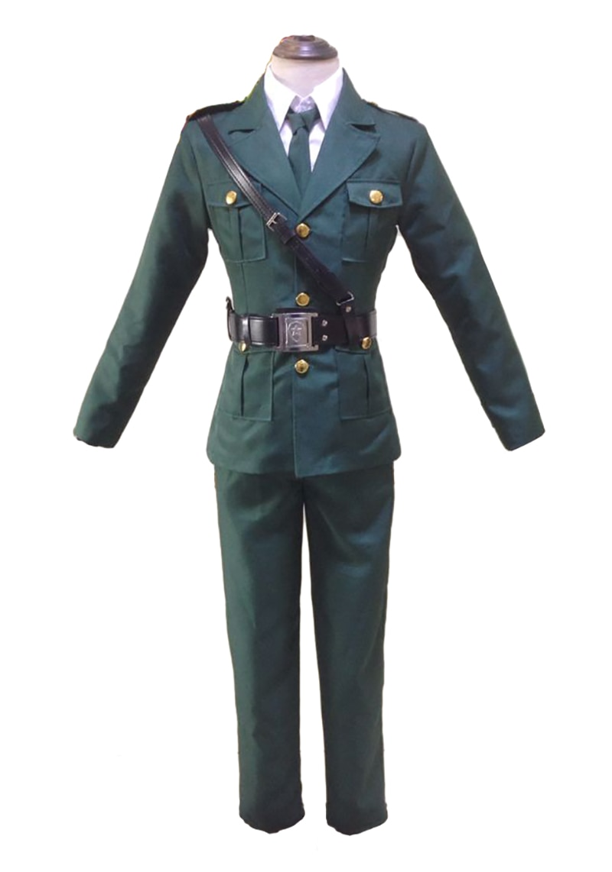 2018 Anime Axis Powers Hetalia England Military Uniform APH Britain Arthur Cosplay Costume