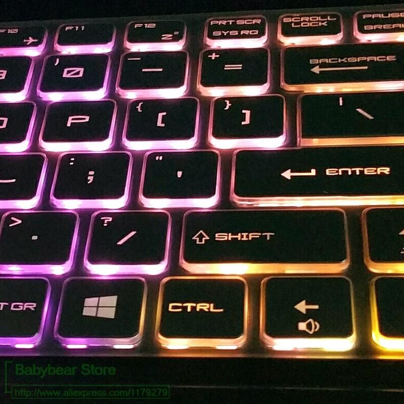 Para Msi Ws60 Gt72 Gt62 Gs60 Gs70 Gl62 Gl72 Ge72 Ge62 Gp62 Gp72 Gp62Mvr Gp72Mvr teclado cubre la piel Tpu transparente