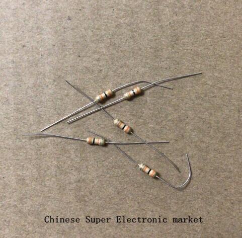 1000PCS 1/6W = 1/8W 1K , 1K ohm Carbon Film Resistor 0.125W 5% ( 1K5 2K2 3K3 4K7 6K8 12K 15K 18K 20K 24K 33K 39K 51K 100K 330K