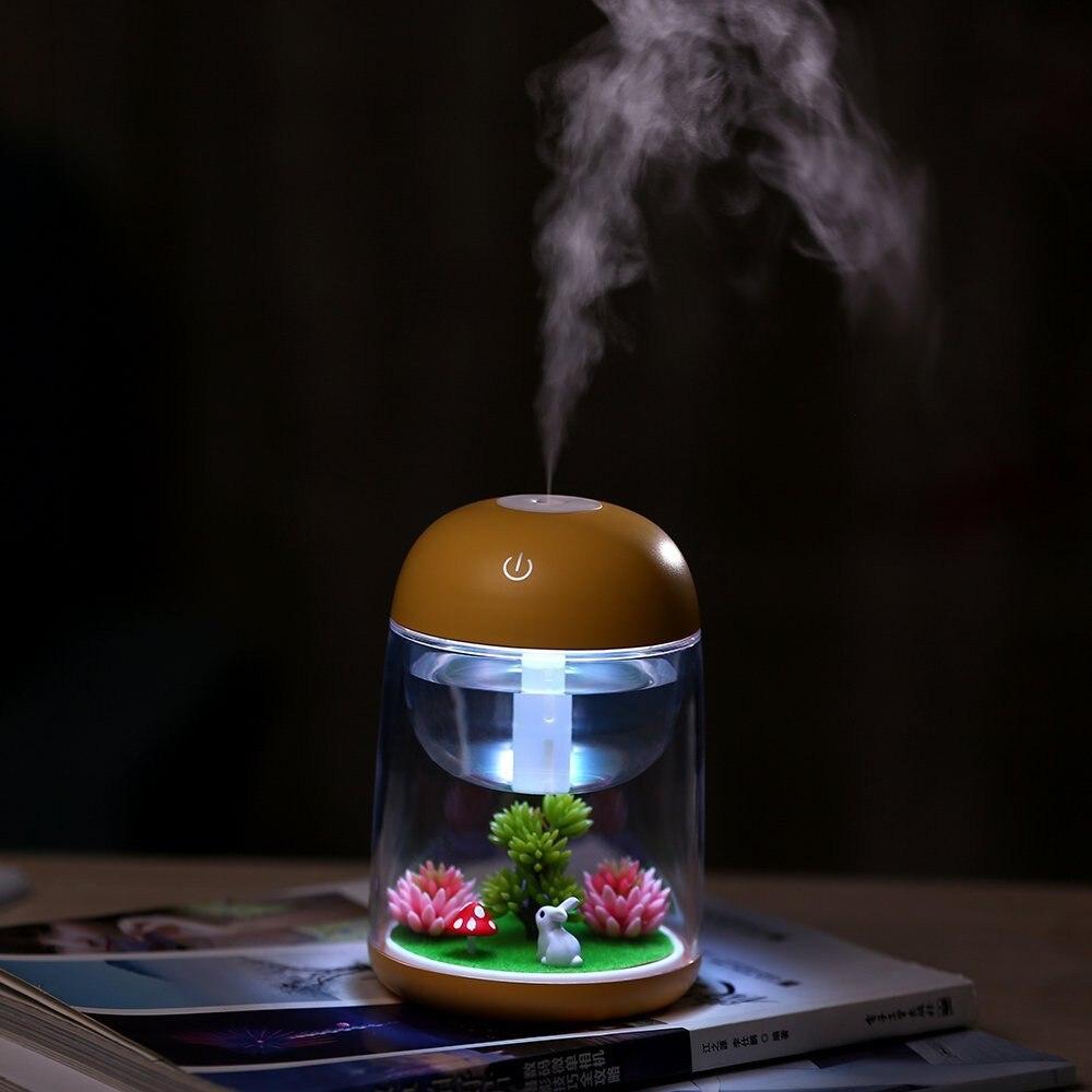 Soporte de Incienso, Mini humidificador, Lámpara Usb de paisaje, Quemador Incienso, difusor de aceite esencial, luz nocturna, decoración de sala de estar