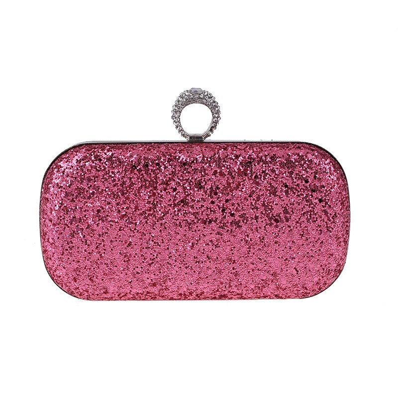 Anillo bolso de noche con bolso de hombro con cadena mochilas con embrague de diamante, nuevos bolsos de mujer, billeteras, bolso de noche para boda A784