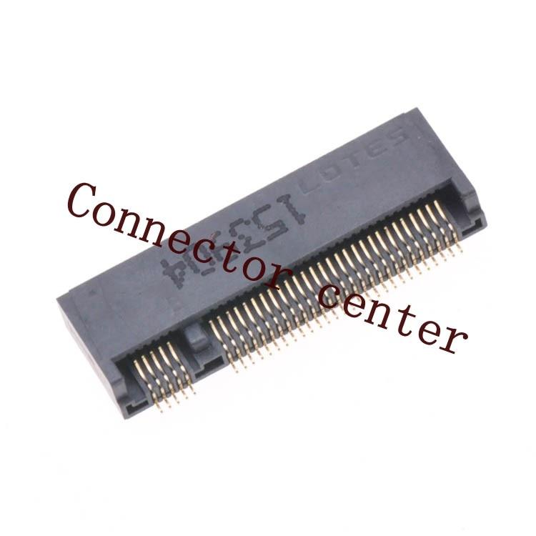 Original LOTES NGFF Socket 67Pin Key B 3.2mm Height SSD M.2 Connector B key