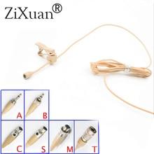 Pince à cravate haute qualité micro micro micro micro Beige omnidirectionnel pour Shure Audio Technica Sennheise MiPro système sans fil