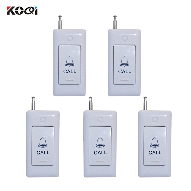 5pcs KOQI LIMITED 5pcs Hospital Call Bell Button System Wireless Buzzer Caller for Restaurant Construction Site K-B