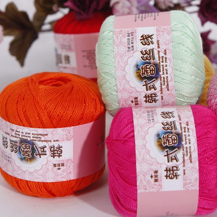 1Ball=50g DIY 100% Warm Lace Cotton Thin Yarn Crochet By 0.8mm Crochet Hooks For Hand Knitting Children Blanket Cloth Yarn
