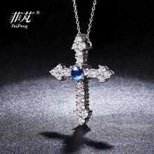 Nueva llegada personalización Cruz 925 plata esterlina colgante collar María imagen joyería cristiana con circonita cúbica