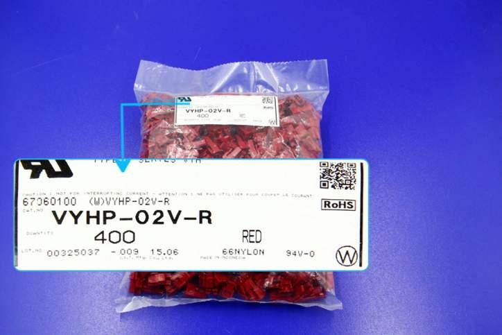 vyhp 02v r cor vermelha habitacao conectores terminais de caixas 100 de pecas novas e originais