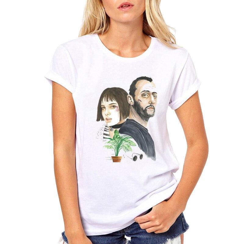 2019 Hot The Professional Leon Matilda camiseta mujer moda dibujos animados divertida camiseta mujer verano blanco tops camisetas de manga corta