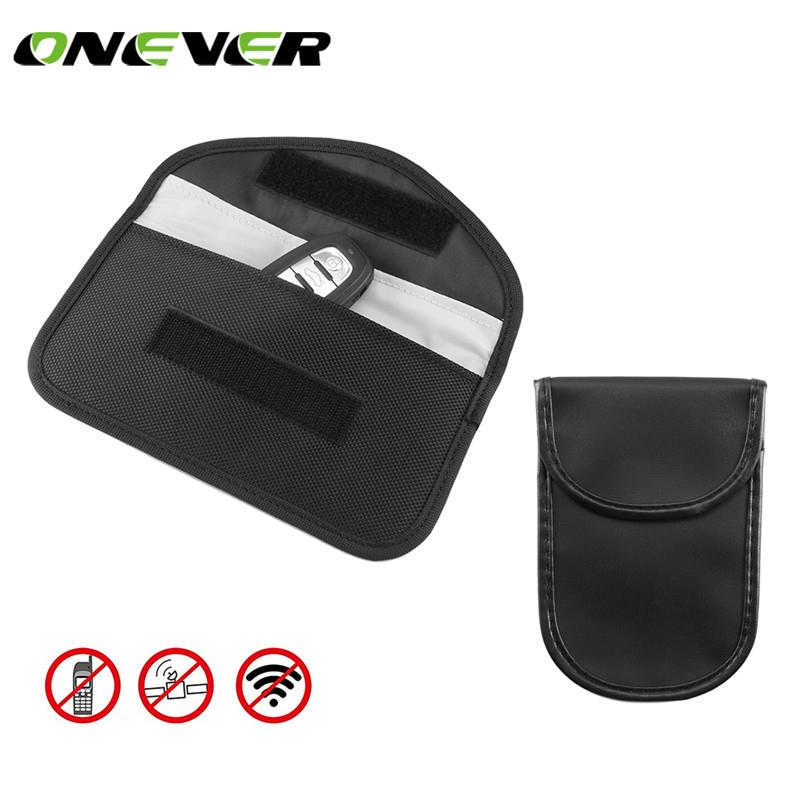 Onever Signal Blocking Bag Car Fob Signal Blocker Faraday Bag Signal Blocking Bag Shielding Pouch Wa